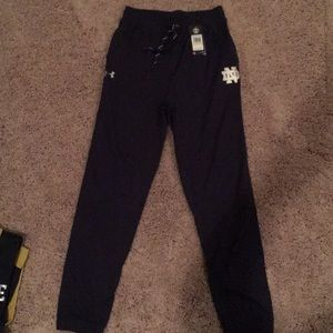 NWT Men's Under Armour Norte Dame track pants